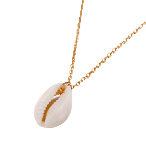 Cowrie Shell Pendant Necklace