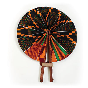 OG Kente Chic Pop Fan( Black)
