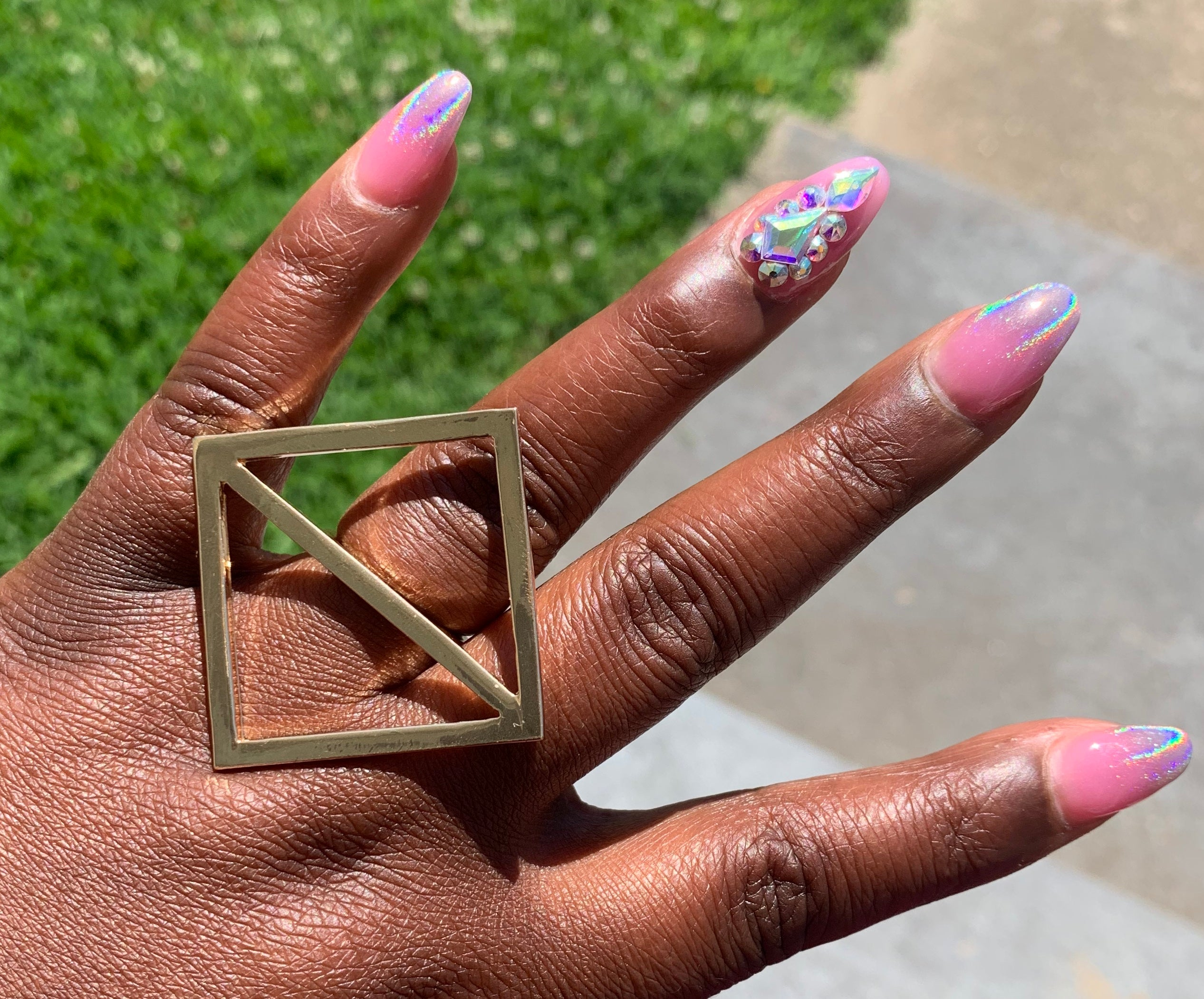 2 Squared // Gold Ring