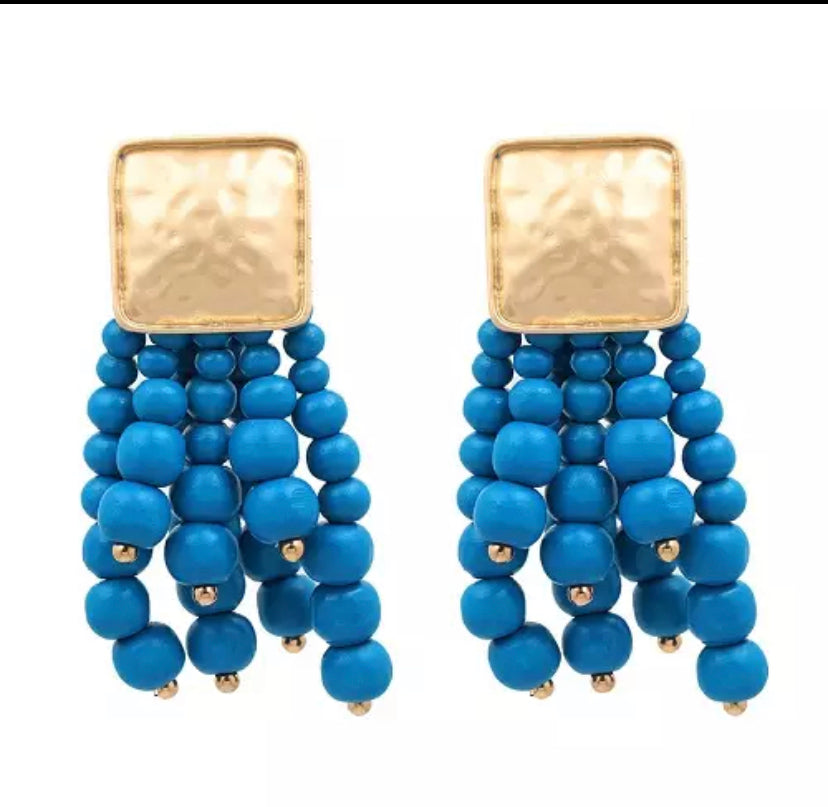 Colorful Bunch of Beads Earrings