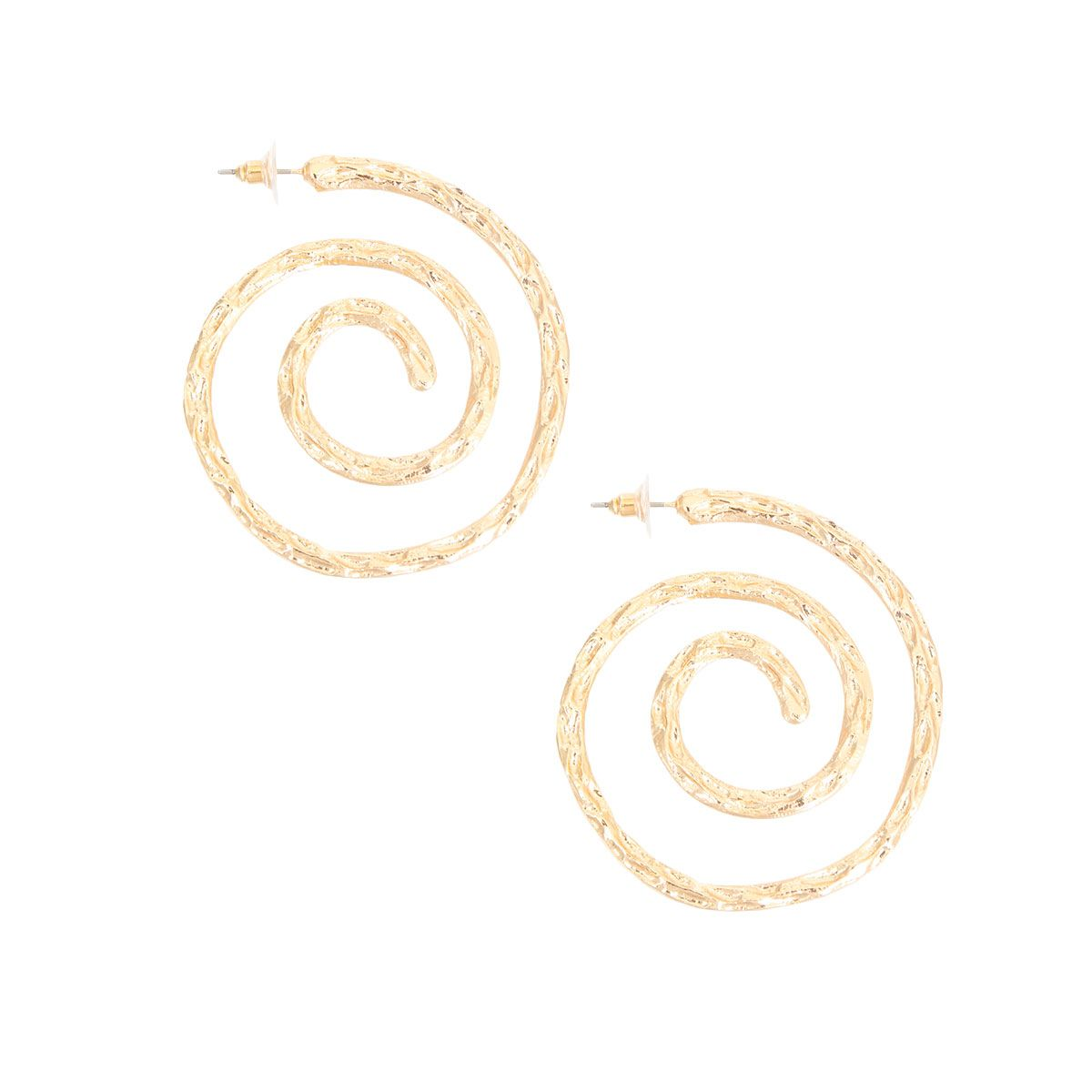 Alicia Gold Coil Earrings
