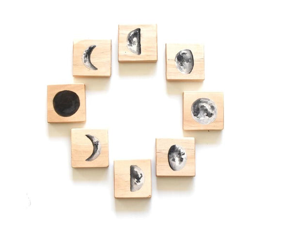 Moon Phases Tile Set