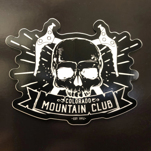 CMC Ice Ax Skull Sticker