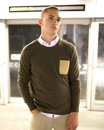 Brava Fabrics - Wool Jersey - Pullover Essential Olive