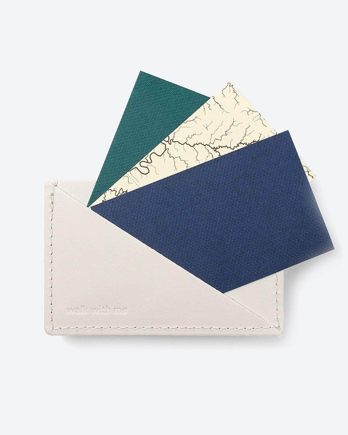 Walk With Me - Triangle Wallet White by Walk With Me
