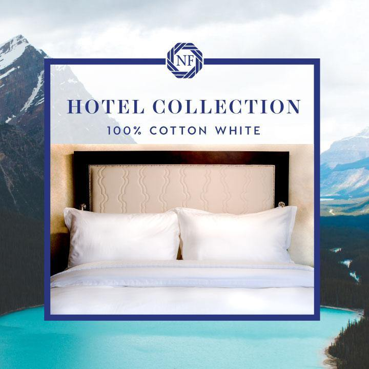 Hotel Collection - 100% Cotton White Linen - Northern Feather Canada eStore