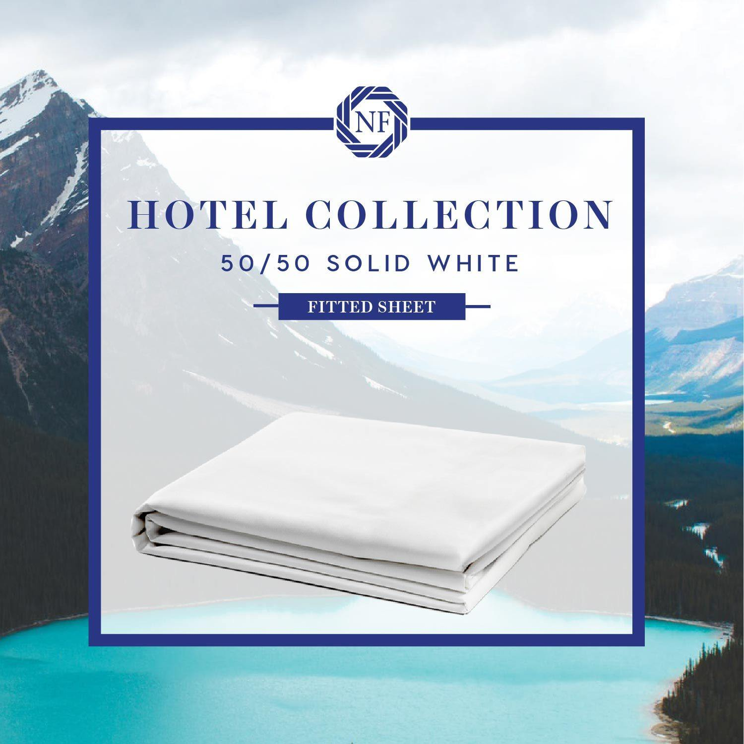 Hotel Collection - 50/50 Solid White Linen