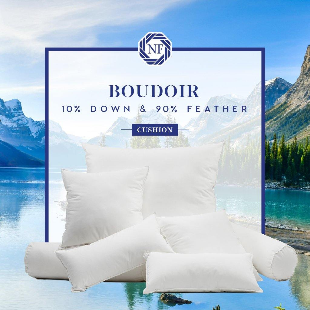 10% Down / 90% Feather Boudoir Cushion - Northern Feather Canada eStore