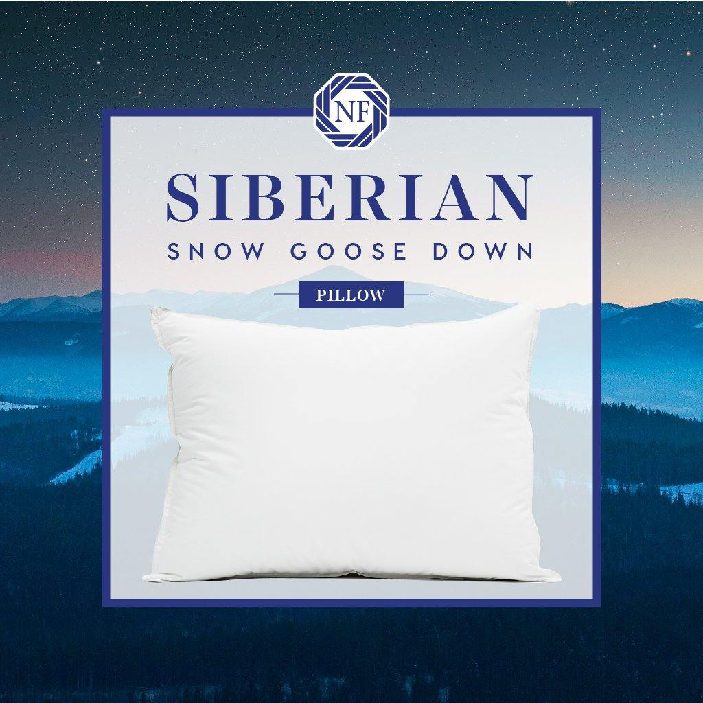 Siberian Snow Goose Down Pillow