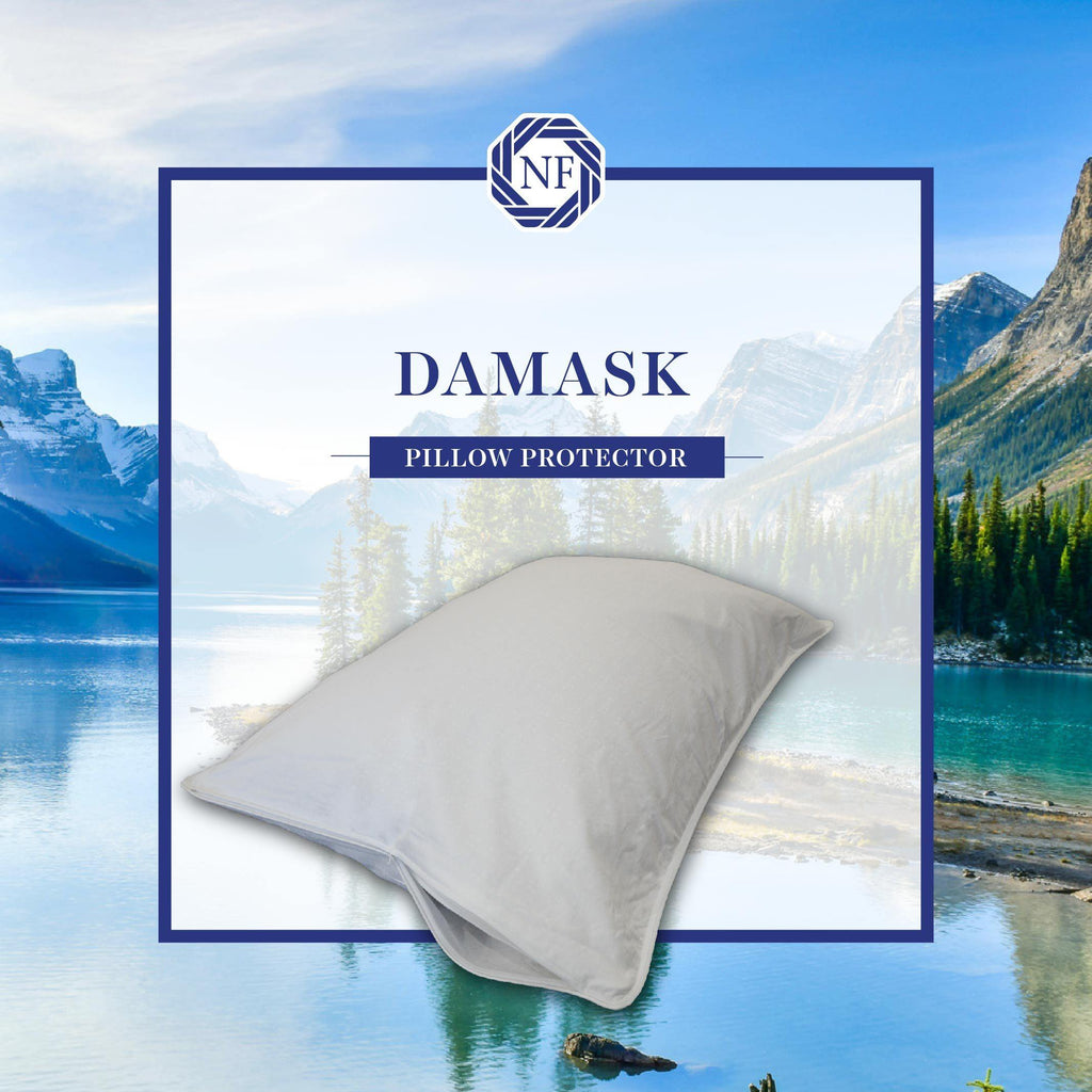 Damask Pillow Protector - Northern Feather Canada eStore