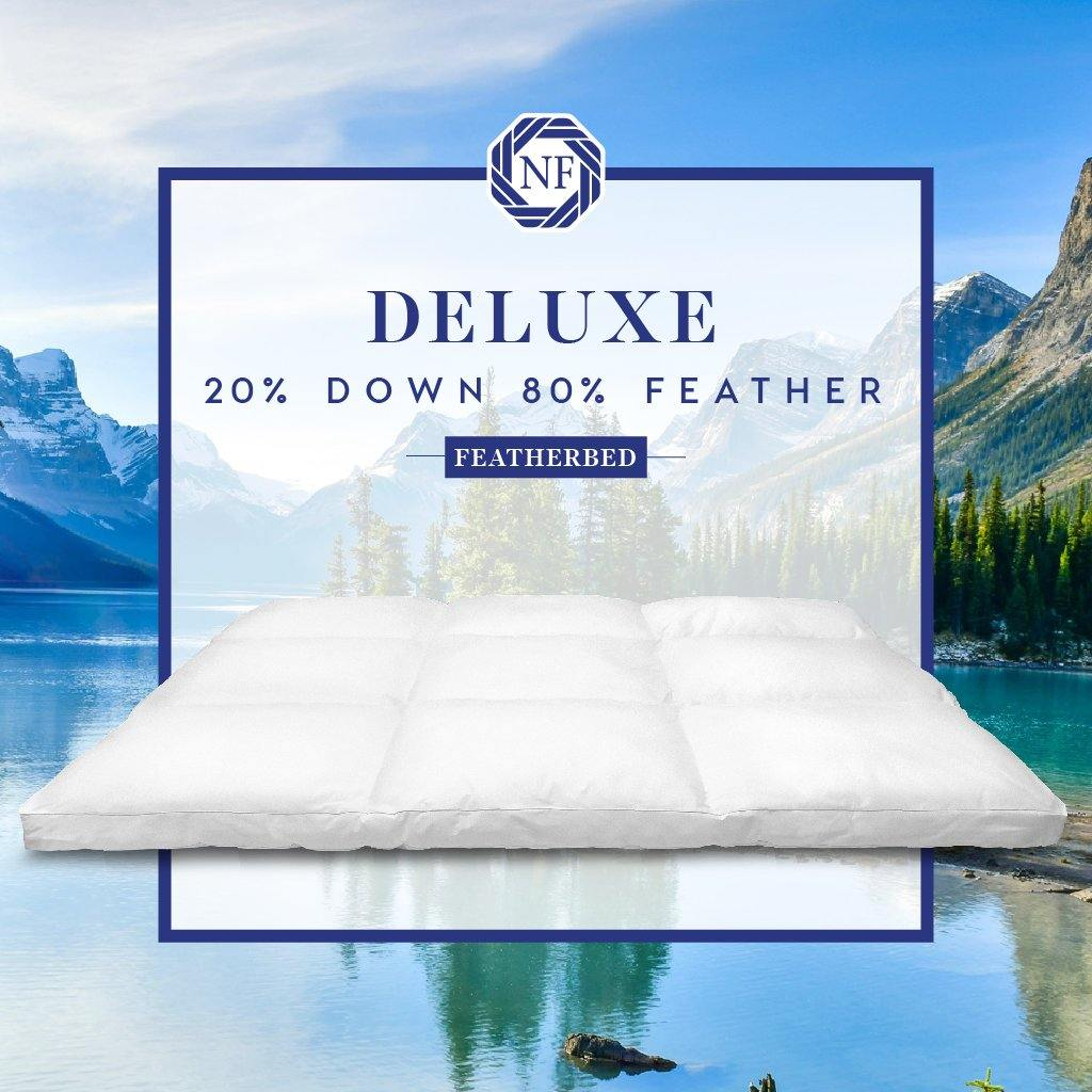 Deluxe 20% Down 80% Feather Featherbed - Northern Feather Canada eStore