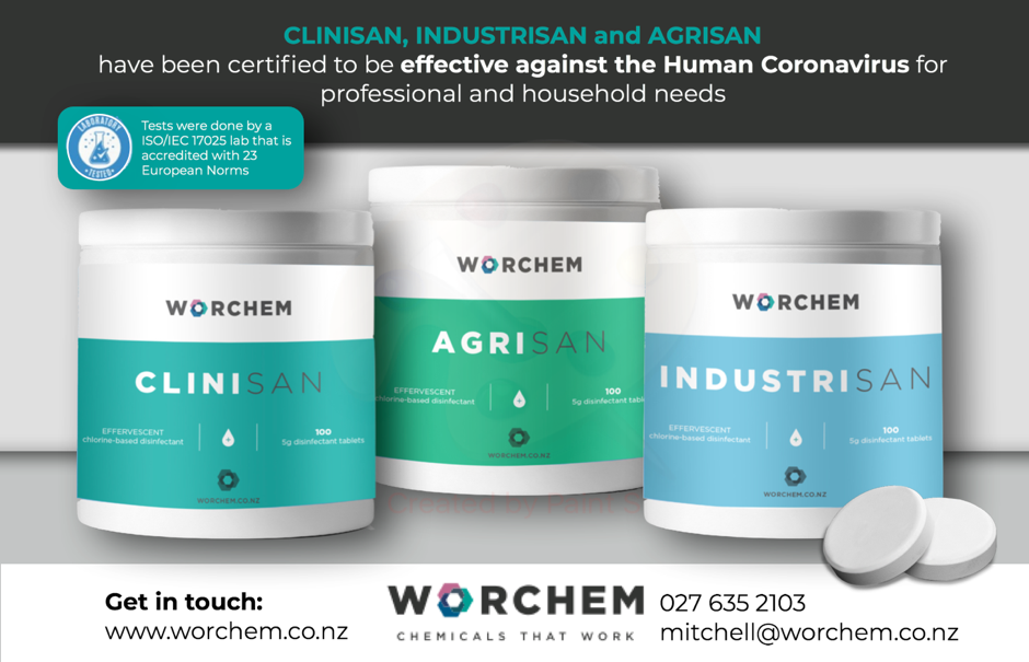 Clinisan and Industrisan by Worchem now certified in the fight against The Human Coronavirus