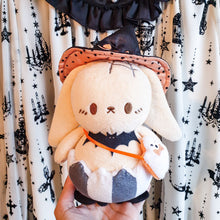 "Load image into Gallery viewer, !🖤PRE ORDER🖤! Witchy Bunny 8"" Plush Keychain🔮 