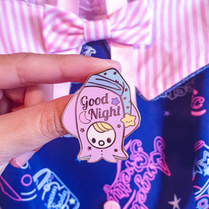 Sleepy Squib Hard Enamel Pin💤 | Pastel Fairy Kei Hard Enamel Pin by Precious Bbyz
