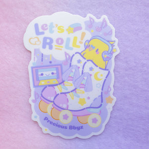 Let's Roll! Birb Sticker | 3 inch Vinyl Sticker by Precious Bbyz