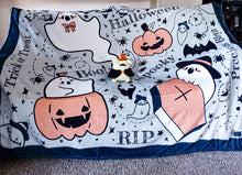 Load image into Gallery viewer, Cozy Ghosts Fluffy Halloween Throw Blanket | Soft and Plush Autumn Halloween Couch Blanket by Precious Bbyz
