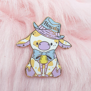 Howdy, Cow! Chocolate Milk Version| Cowboy Kei Inspired Hard Enamel Pin