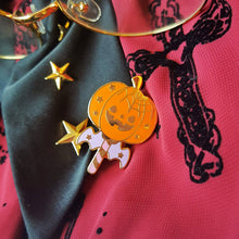Load image into Gallery viewer, Spooky Halloween Pumpkin Wand | Original Hard Enamel Magical Girl Inspired Pumpkin Wand by Precious Bbyz