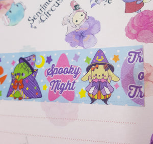 Spooky Party Thick Washi Tape | Kawaii Halloween Inspired Washi Tape for Journals, Scrapbooking, and Crafting by Precious Bbyz