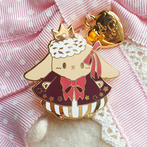 Bunny Prince Gold Tone Hard Enamel Pin | Kawaii Lop Eared Rabbit Enamel Pin by Precious Bbyz