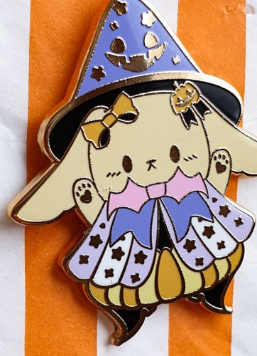 SECONDS SALE! Spooky Bunny Prince Hard Enamel Pin | Spooky Cute Pastel Halloween Enamel Pin by Precious Bbyz