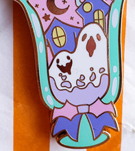 Load image into Gallery viewer, SECONDS SALE! Birb's Tricky Parfait Hard Enamel Pin | Spooky Cute Pastel Halloween Enamel Pin by Precious Bbyz