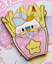 Load image into Gallery viewer, SECONDS SALE! Smol Fry Birb Fries |  Pastel Fairy Kei Yume Kawaii Retro 80's Hard Enamel Pin by Precious Bbyz