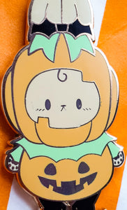 SECONDS SALE! Pumpkin Bunny Prince Hard Enamel Pin | Spooky Cute Pastel Halloween Enamel Pin by Precious Bbyz