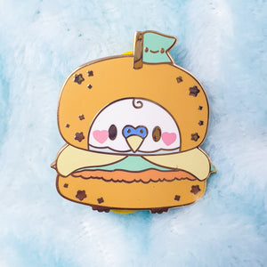 SECONDS SALE! Hamburbger Hard Enamel Pin|  Pastel Fairy Kei Yume Kawaii Retro 80's Hard Enamel Pin by Precious Bbyz