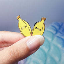 Load image into Gallery viewer, Baby Banana Hard Enamel Pin | Dainty and Cute Banana Hard Enamel Pin by Precious Bbyz