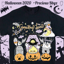 Load image into Gallery viewer, Cemetary Lane Spooky Cute T-shirt | Unisex Spoopy Halloween Black T-shirt by Precious Bbyz