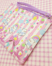Load image into Gallery viewer, Kawaii *2-Style* Birb Faux Leather Pencil Bag | Fairy Kei Astro Birb Cosmetic Pouch by Precious Bbyz