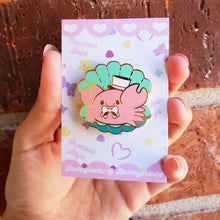 Load image into Gallery viewer, Dapper Kreb Hard Enamel Pin | Kawaii Pastel Little Mermaid inspired chubby crab enamel pin by Precious Bbyz