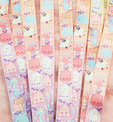 Ocean Friends Thick Lanyard| Kawaii Fairy Kei Underwater Marine Life Lanyard for Work School and Conventions by Precious Bbyz