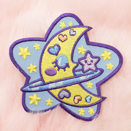 Cosmic Friends DIY Iron On Patch | Fairy Kei Yume Kawaii Pastel Space Patch by Precious Bbyz