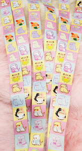Birb Party Thick Lanyard| Kawaii Fairy Kei Parakeet Lanyard for Work School and Conventions by Precious Bbyz