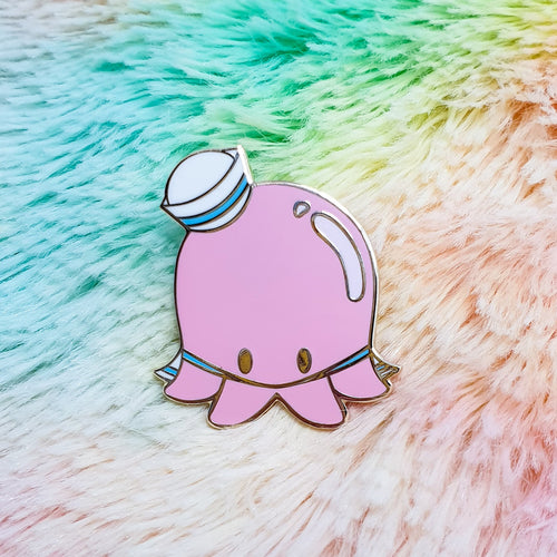 Sailor Octopi Hard Enamel Pin |  Pastel Mermaid Ocean Inspired Enamel Pin by Precious Bbyz