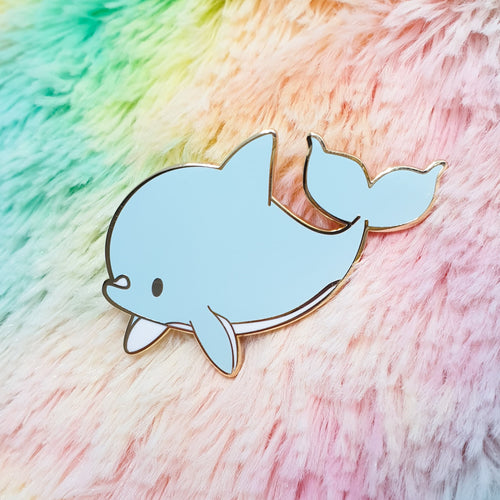 Lil Dolphin Hard Enamel Pin |  Pastel Mermaid Ocean Inspired Enamel Pin by Precious Bbyz