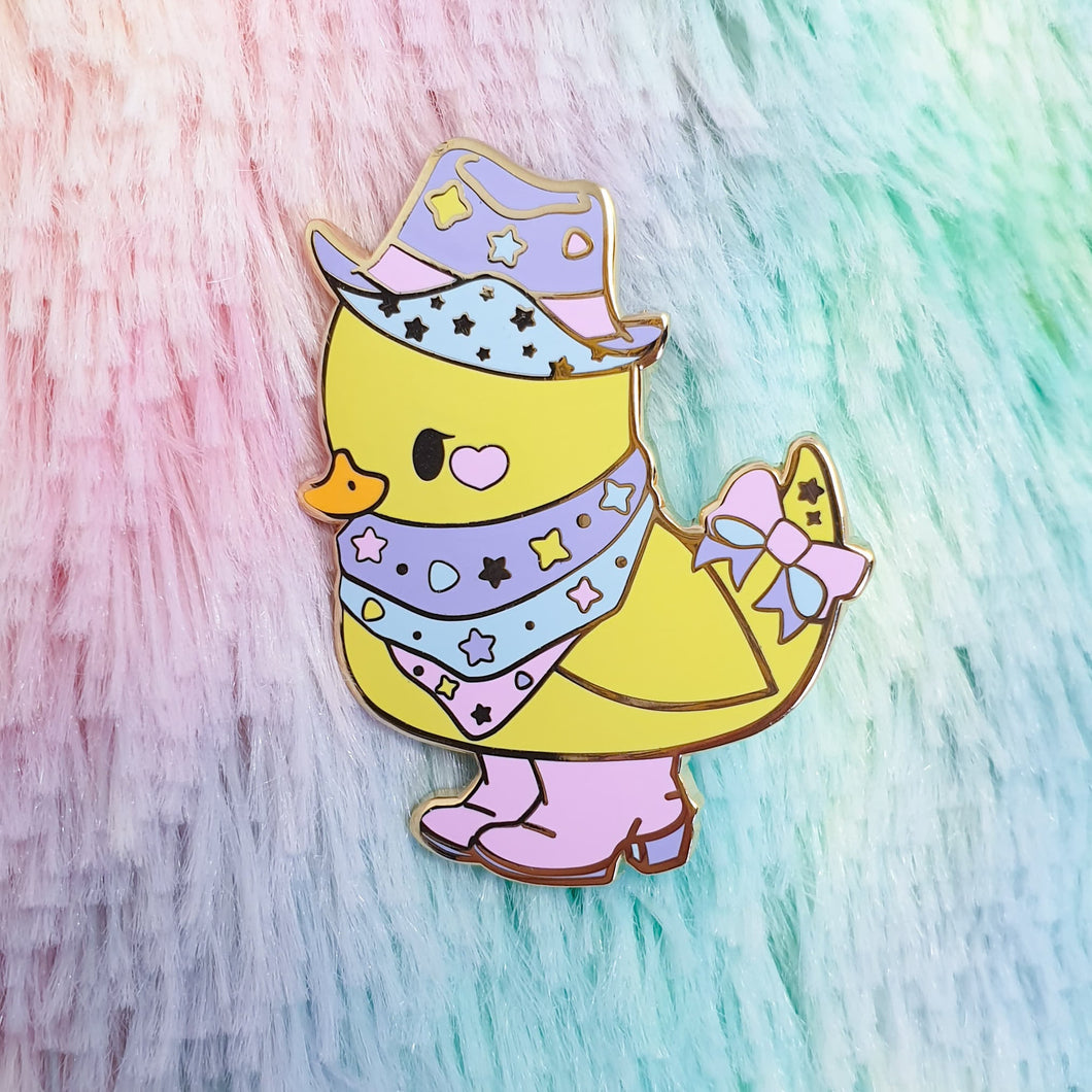 Yeehaw Ducky Hard Enamel Pin | Pastel Fairy Kei Yume Kawaii Decora Inspired Enamel Pin by Precious Bbyz
