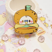 Load image into Gallery viewer, Hamburbger Birb Burger |  Pastel Fairy Kei Yume Kawaii Retro 80's Hard Enamel Pin by Precious Bbyz