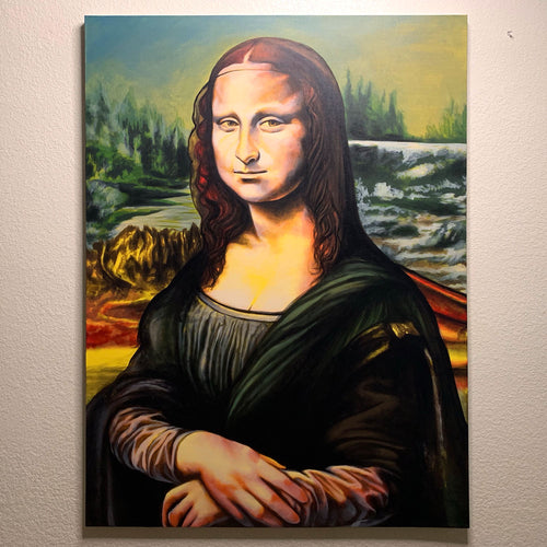 Original ORFIN Hand Painted Mona Lisa