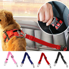 Adjustable Dog Car Seatbelt Harness Lead Clip Pet Supplies.