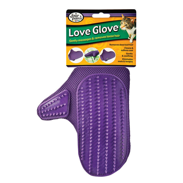 Four Paws Love Glove Grooming Mitt for Cats