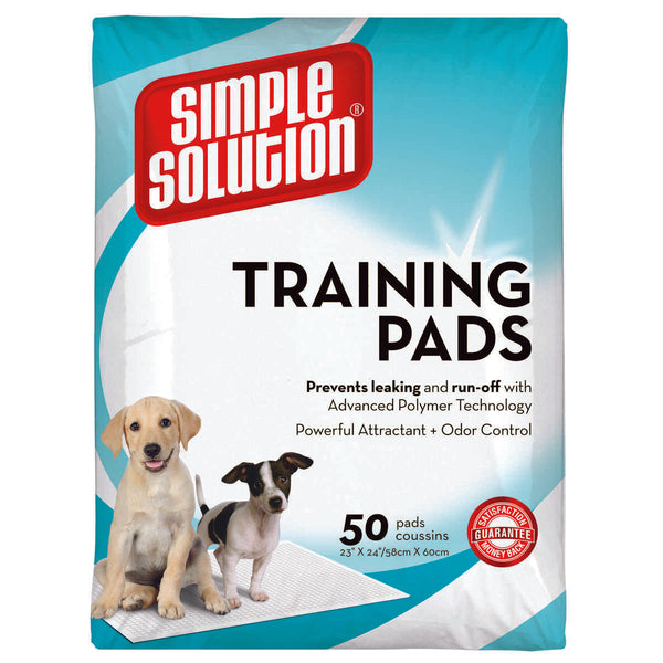 "Simple Solution Training Pads 50 count Large 23"" x 24"" x 0.1""."