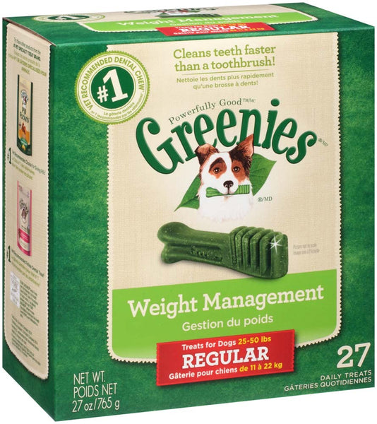 GREENIES Weight Management Regular Size Dental Dog Chews - 27 Ounces 27 Treats