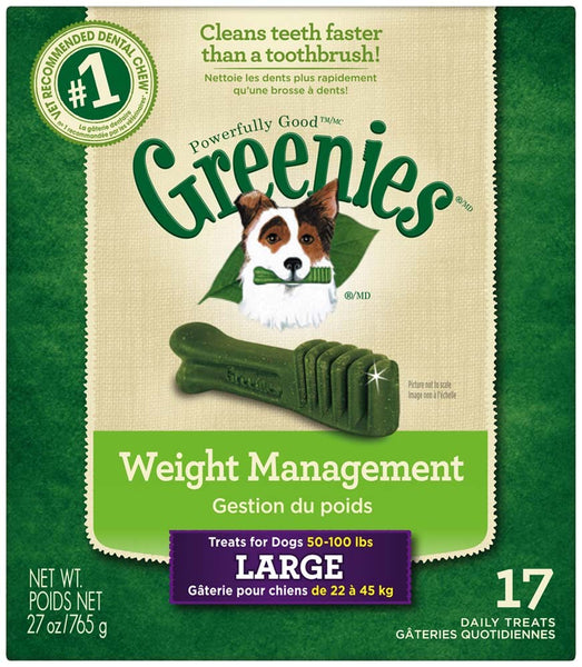 GREENIES Weight Management Large Dental Dog Chews - 27 Ounces 17 Treats
