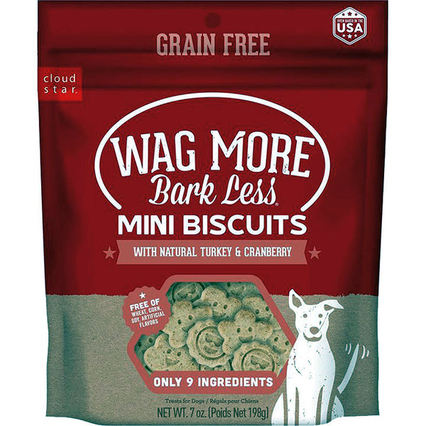 CLOUD STAR WAGMORE DOG GRAIN FREE MINI BAKED TURKEY 7OZ.