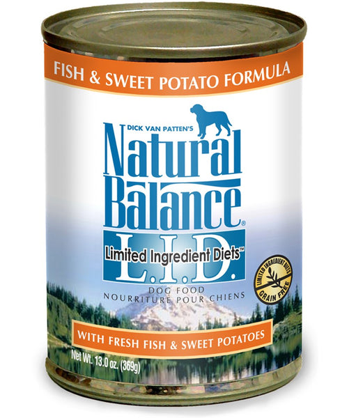 Natural Balance L.I.D. Fish & Sweet Potato Formula Canned Dog Food 13oz.