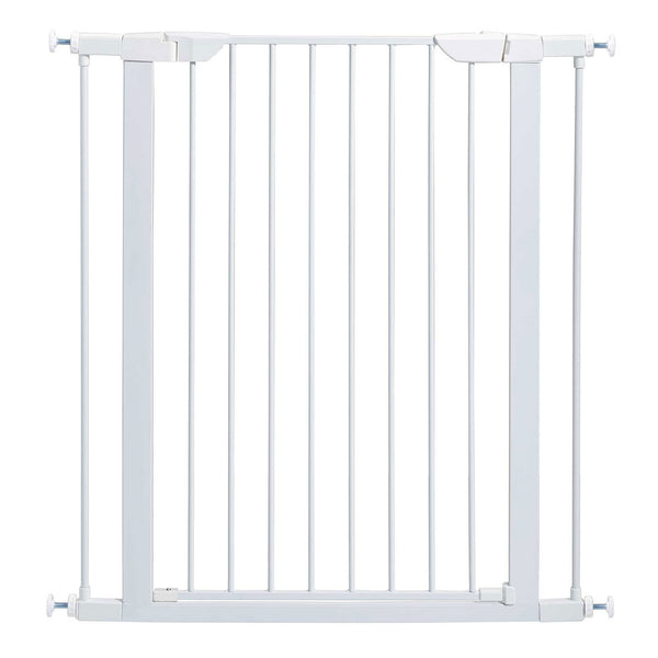 "Midwest Glow in the Dark Steel Pressue Mount Pet Gate Tall White 29.5"" - 38"" x 1"" x 39.13"""