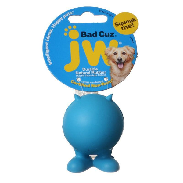 JW Pet Bad Cuz Rubber Squeaker Dog Toy.